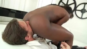 Black cock in white anal
