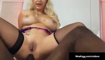 Teen nympho sucks cock while masturbating